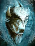 Myths Art - White Buffalo Woman by John Guthrie