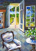 Nantucket Paintings - White Chair Nantucket by Randy Sprout