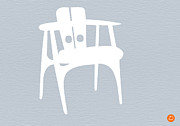 Midcentury Acrylic Prints - White Chair Acrylic Print by Irina  March