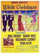 1950s Poster Art Photos - White Christmas, Bing Crosby, Danny by Everett