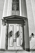 Indiana Photography Prints - White Church And White Door I Print by Steven Ainsworth