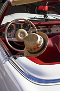 Antique Automobiles Photos - White Classic Mercedes Benz 230 SL by Heiko Koehrer-Wagner
