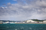 Port Kent Photos - White Cliffs of Dover and Port Entrance, England by Jon Boyes