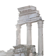 Italy Photo Prints - WHITE COLUMNS temple of Castor and Pollux in the Forum Rome Italy Print by Andy Smy