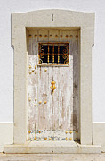Wooden Building Prints - White Door Print by Carlos Caetano