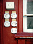 Buzz Prints - White Doorbells Print by Carlos Caetano