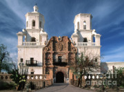 Colonial Architecture Photos - White Dove of the Desert by Sandra Bronstein