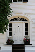 Entrance Door Photos - White Entrance Door by Christiane Schulze