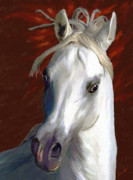 Painted Ponies Art - White Fire by James Shepherd