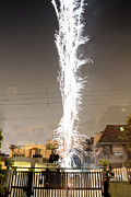 Surrealism Photo Posters - White Fireworks Poster by Sumit Mehndiratta