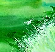 Peaceful Scenery Mixed Media Prints - White Flower Print by Anil Nene