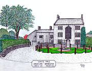 Historic Buildings Images Mixed Media - White Hall  - Front View by Frederic Kohli