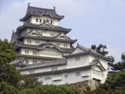 Shogun Photo Prints - White Heron Castle - Himeji City Japan Print by Daniel Hagerman