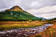 White Horses Photo Prints - White Horses. Rest and Be Thankful. River Kinglas. Scotland Print by Jenny Rainbow