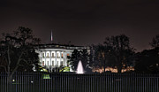 White House At Christmas Print by Metro DC Photography