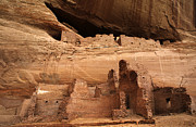 Ancient Ruins Prints - White House Ruin Canyon De Chelly Print by Bob Christopher