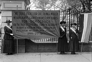 Feminist Framed Prints - White House: Suffragettes Framed Print by Granger