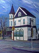 Cityscape Mixed Media Originals - White House Tavern by Anita Burgermeister
