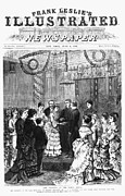 Groom Posters - White House Wedding, 1874 Poster by Granger