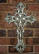Jesus Metal Prints - White Iron Cross 1 Metal Print by Angelina Vick