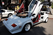 Lamborghini Prints - White Lamborghini Italian Sportscar . 40D9416 Print by Wingsdomain Art and Photography