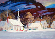 New England Village  Paintings - White Light by Len Stomski