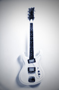Fender Strat Digital Art - White Lightning by Bill Cannon