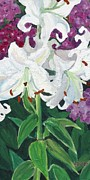Phlox Originals - White Lillies by Christina Plichta