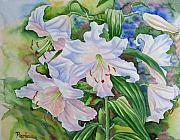 Parc Paintings - White Lily. 2007 by Natalia Piacheva