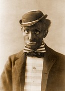 Racism Prints - White Man In Blackface As Minstrel Print by Everett