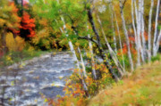 Adirondacks Digital Art Posters - White Mountains Brook Poster by Betty LaRue