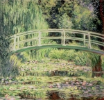 Bridge Prints - White Nenuphars Print by Claude Monet