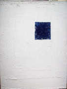 Minimalistic Paintings - White on the Edge by Diane Clement