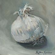 Kristine Kainer Paintings - White Onion No. 1 by Kristine Kainer