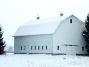 Barn Storm Prints - White out Print by Lisa Jayne Konopka