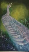 White Peacock Print by Gila Churba