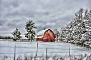 Douglas County Wisconsin Acrylic Prints - White Pine Barn Acrylic Print by Whispering Feather Gallery