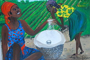 Nicole Jean-louis Prints - White Rice Merchant Print by Nicole Jean-Louis