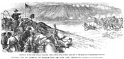 U.s Army Metal Prints - White River Attack, 1879 Metal Print by Granger