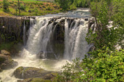 White River Falls Print by Connie Cooper-Edwards