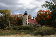 White River Lighthouse Print by Richard Gregurich