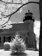 Jeff Holbrook Metal Prints - White River Station Lighthouse Metal Print by Jeff Holbrook