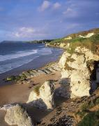 Evening Scenes Posters - White Rocks Beach, Between Portrush & Poster by The Irish Image Collection
