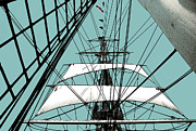 Ropes Digital Art Prints - White Sails at Dawn Print by Linda  Parker