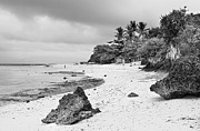 Cebucity Prints - White Sand Beach Moal Boel Philippines BW Print by James Bo Insogna
