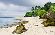 Filipino Prints - White Sand Beach Moal Boel Philippines Print by James Bo Insogna