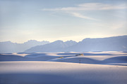 Sands Photo Acrylic Prints - White Sands Blue Sky Acrylic Print by Peter Tellone