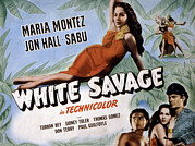 Sarong Prints - White Savage, Maria Montez, Sabu, Jon Print by Everett