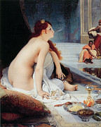 Fine Art  Of Women Paintings - White Slave by Jean-Jules Antoine Lecomte Du Nouy