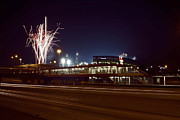 Mlb Metal Prints - White Sox Homer Fireworks Metal Print by Sven Brogren